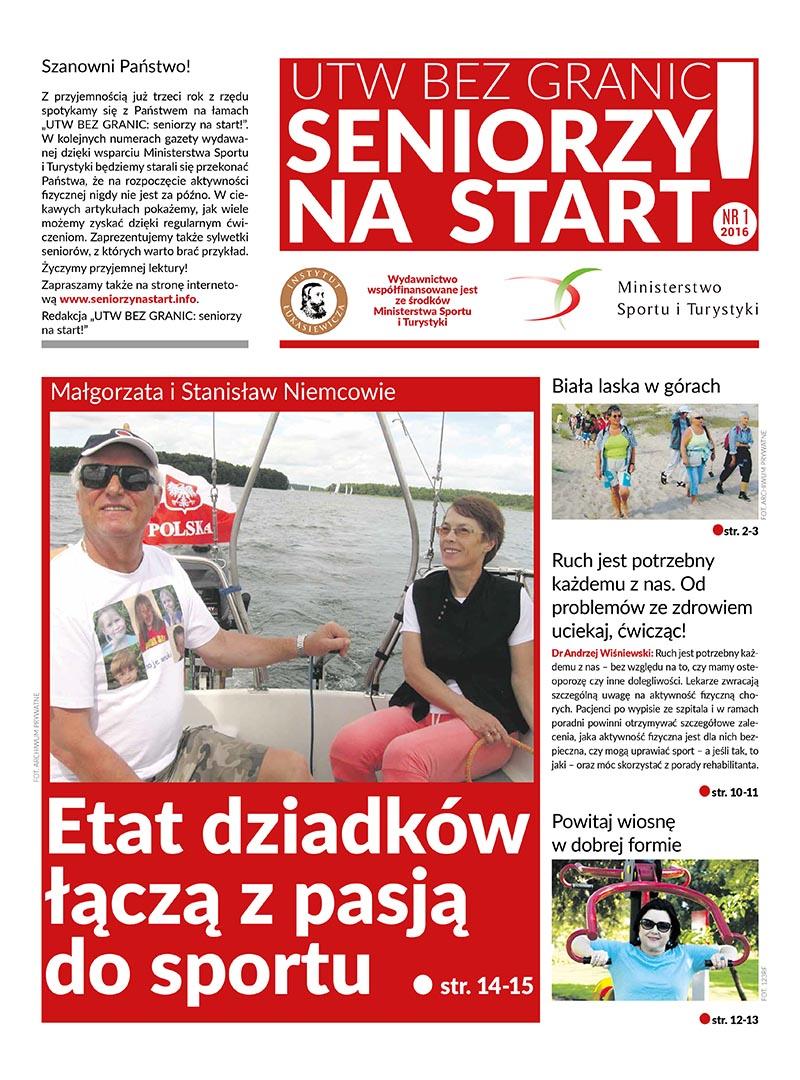 """""""UTW bez granic: seniorzy na start!"""" 2016 – pierwszy numer gazety trafił do czytelników!"""